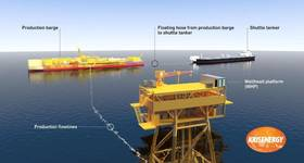 A representation of the Apsara oil field arrangement in Block A, offshore Cambodia (Image: KrisEnergy)