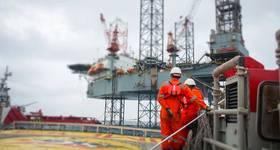 Illustration: Jack-up drilling rig -   Image by: xmentoys - Adobe Stock