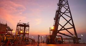Illustration; A platform flare stack at dusk in India / Image by BP