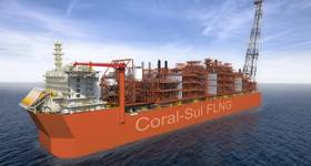 Artist's impression of the Coral Sul FLNG - Image by ALP