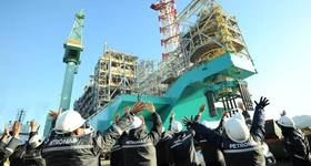 Petronas' recently launched FLNG unit - Credit: Petronas