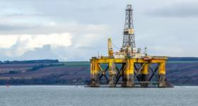 For Illustration: An offshore drilling rig anchored off the coast of Scotland / Credit:alpegor/AdobeStock