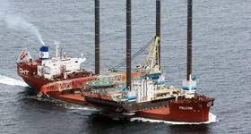 MV Falcon transporting jack-up barge JB 118 from Abu Dhabi, UAE to Guangzhou