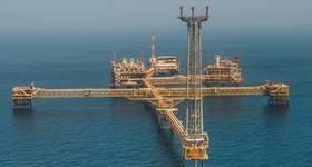 An offshore platform in Qatar - Credit: Qatargas
