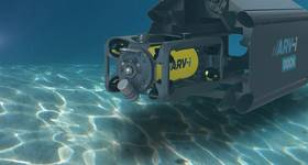 The ARV-i combines underwater vehicle, photography and robotics technology from Boxfish Research and underwater power and communications from Transmark Subsea. Image courtesy Boxfish & Transmark