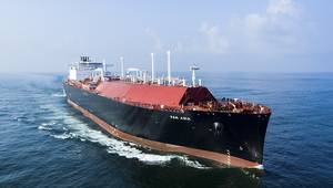File photo: A 170,000m3 class LNG carrier delivered by Hudong-Zhonghua in 2017 (Photo: Hudong-Zhonghua Shipbuilding Co)