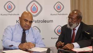 Managing Director of Kumul Petroleum Wapu Sonk (left) - The Minister for Petroleum, Kerenga Kua (right) -  Credit: Kumul Petroleum