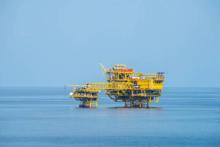 Alpha and Beta platforms on Bualuang Field, Thailand (Photo: Ophir Energy)