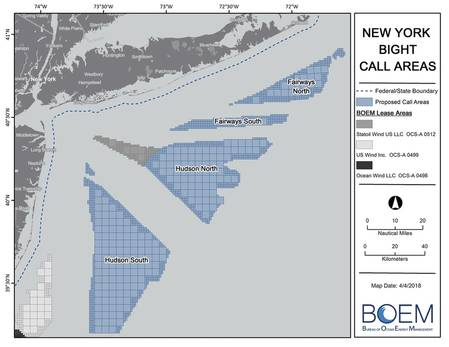New York Bight call areas.