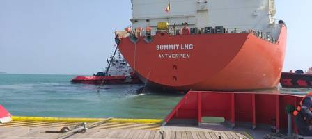 "Excelerate''s FSRU ""Summit LNG"" Flowing Gas into Bangladesh. Image: Excelerate Energy"