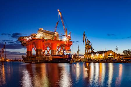 File Image: an idled oil rig in a shipyard (CREDIT: AdobeStock / © Nightman