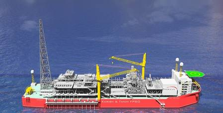 Karish and Tanin Floating Production Storage and Offloading unit. Pic: Energean Oil & Gas