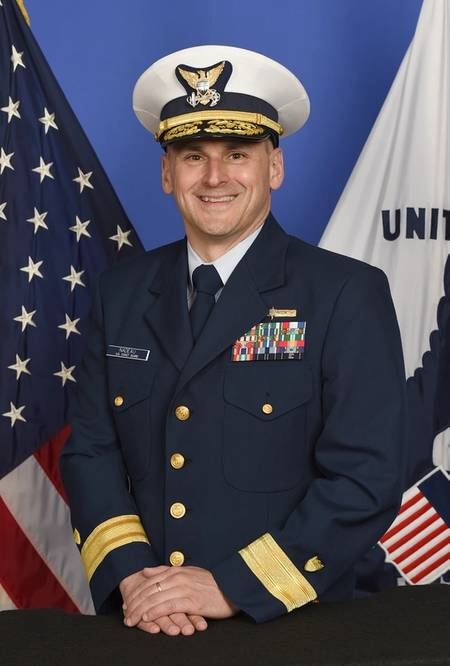 Rear Adm. John Nadeau, who recently took command of the Eighth Coast Guard District in New Orleans