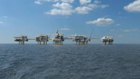 Rendering of Johan Sverdrup phase 2, scheduled to come on stream in 2022 (Image: Lundin Petroleum)