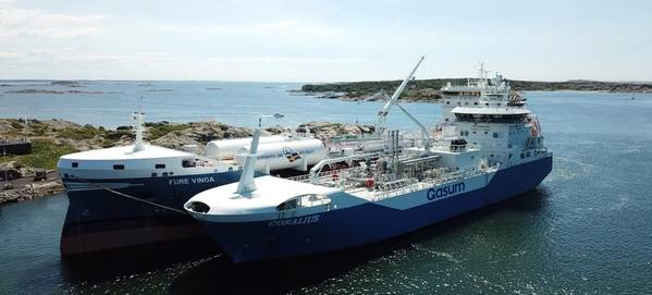 Coralius reaches 100 bunkerings milestone - LNG demand on the rise. Photo:  Gasum Oy