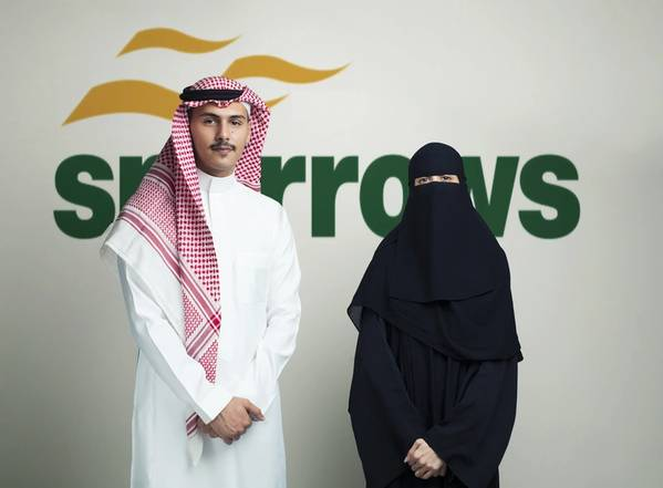 Sparrows local Kingdom of Saudi Arabia operations assistant Sultan Ghamdi, and regional accountant Mariam Aleid (Photo: Sparrows Group)