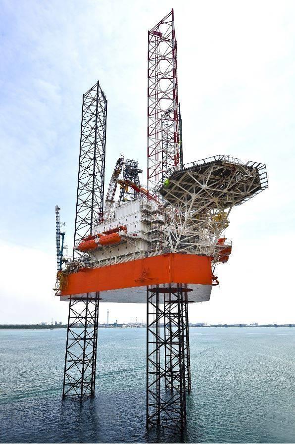 Keppel's KFELS B Heimdal rig - Image source: Keppel Corporation
