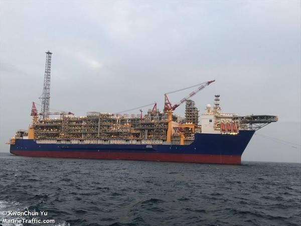 Ichthys Venturer FPSO - Image by KwonChun Yu (Marine Traffic)