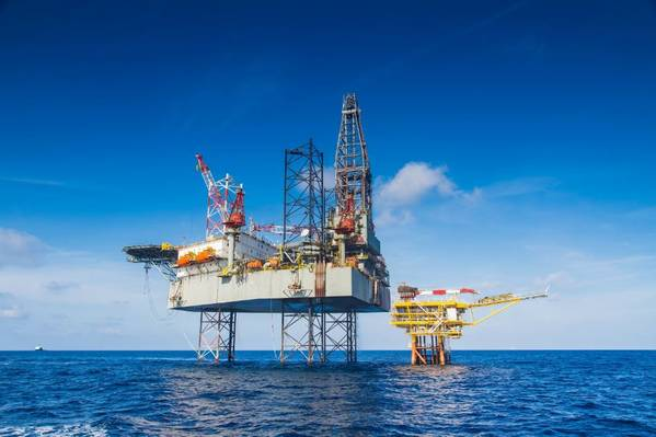 Illustration only: A Jack-Up drilling rig - Image by pichitstocker-AdobeStock
