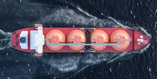 Illustration; An LNG Tanker - Image by alexlmx - AdobeStock