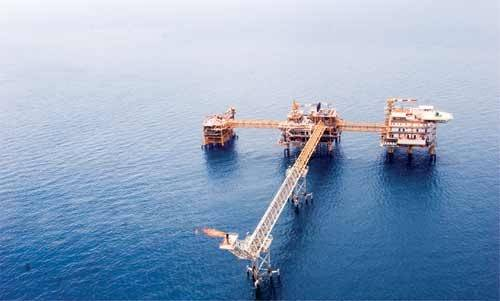 For illustration; An offshore platform at the South Pars field - Credit; Pars Oil & Gas Company