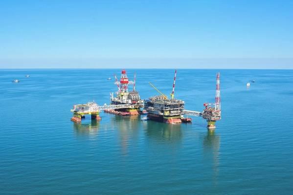 Lukoil's Caspian Sea platforms - Credit: Lukoil