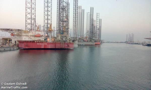 Shelf Drilling Tenacious - Image by Gautam Gulvadi - Marine Traffic