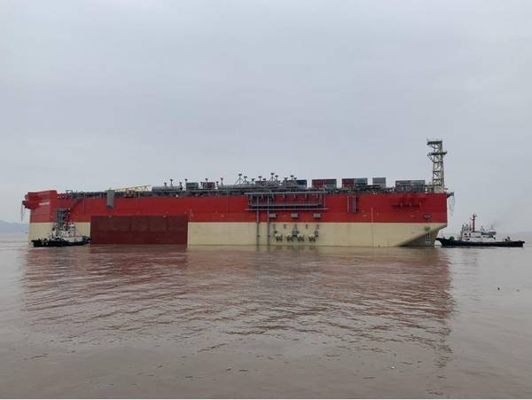 Energean Power FPSO Hull leaving China - Credit: Energean Oil and Gas