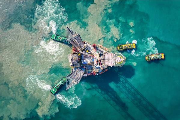 An offshore drilling rig - Image by Namthip - AdobeStock