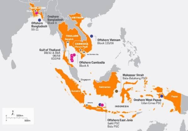 Map showing KrisEnergy's assets - Credit: KrisEnergy