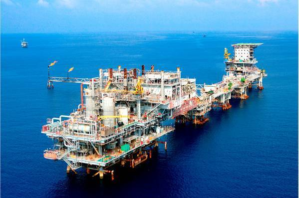 Illustration; A Pertamina offshore platform - Credit: Pertamina