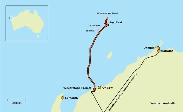 Wheatstone Map - Credit; Chevron