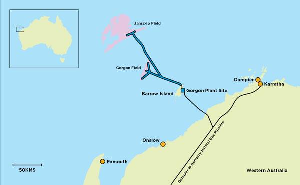 Gorgon Map - Credit. Chevron