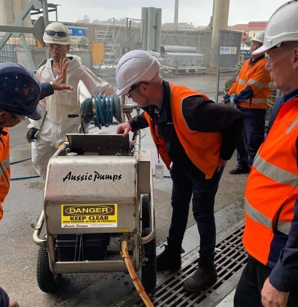 Australian Pump, an Australian designer and manufacturer of high-pressure cleaning equipment, was chosen to design and build 4,000 psi high pressure water blasters for Sydney's Garden Island Dockyard.