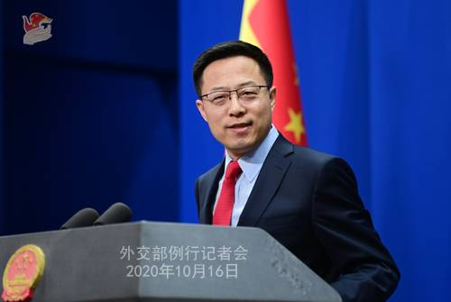 China foreign ministry spokesman Zhao Lijian / Credit: China Foreign Ministry