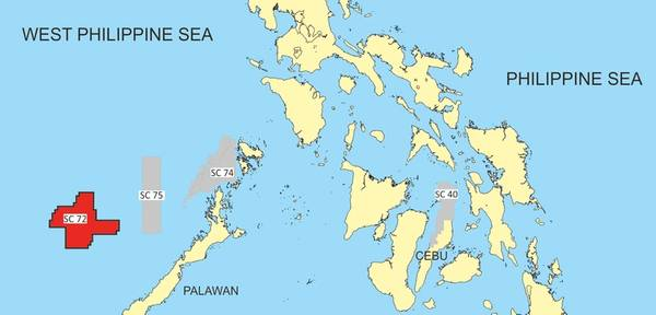 One of PXP's blocks in S. China sea offshore The Philippines - Credit: PXP Energy
