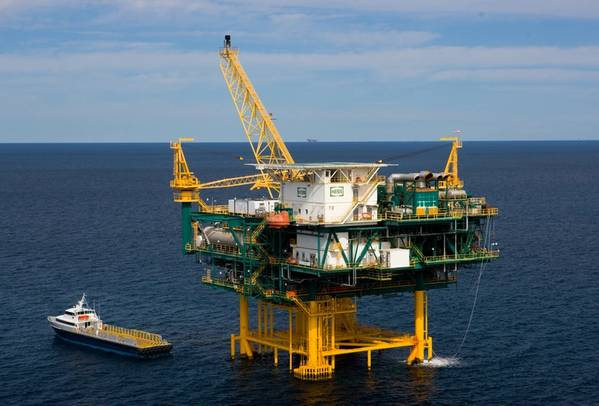 A Hess platform in the Gulf of Mexico - Credit. Hess