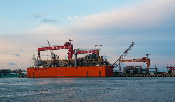 Illustration only - An FLNG Unit by Wison - Credit: Wison