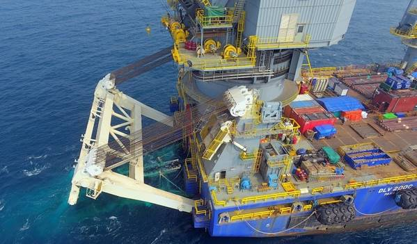 McDermott used its Derrick Lay Vessel 2000 to perform its first S-lay piggy-back pipelay.- Credit: McDermott