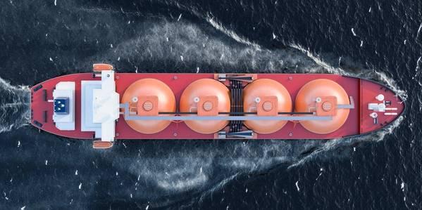 An LNG Tanker-Illustration by alexlmx/AdobeStock