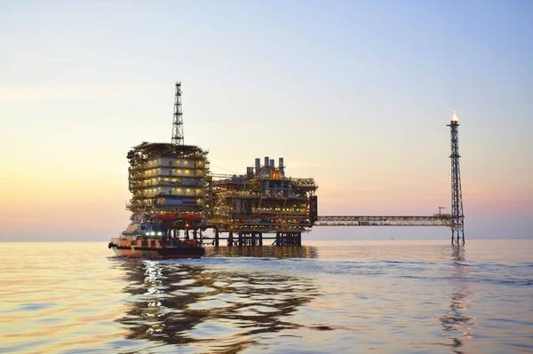 An offshore oil platform/ Credit: Pongpob/AdobeStock
