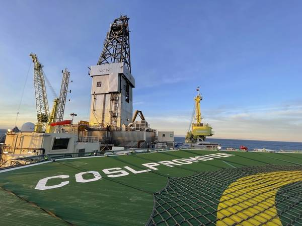 The COSLPromoter rig is pioneering a new sustainable technology collaboration from Kongsberg Maritime and NOV - Credit: Kongsberg Maritime