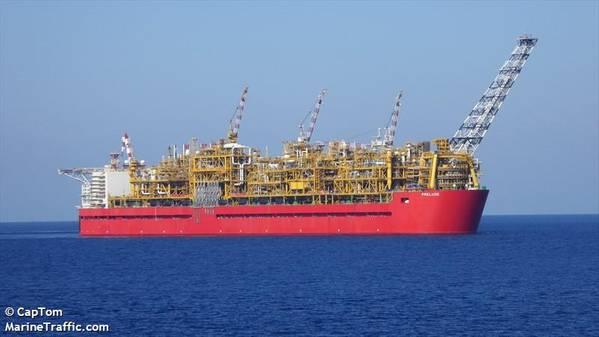 Shell's Prelude FLNG off Australia/Credit: CapTom/MarineTraffic.com