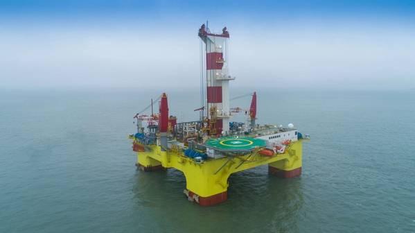 CMHI's semi-submersible drilling platform Shen Lan Tan Suo - Credit: DNV GL