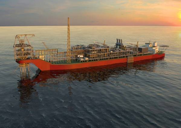 angomar FPSO Illustration - Credit: Woodside