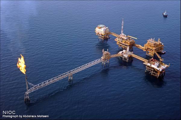 For Illustration  - An offshore platform complex in Iran - Credit: NIOC