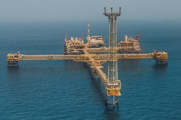 An offshore platform in Qatar - Credit: Qatargas (file photo)