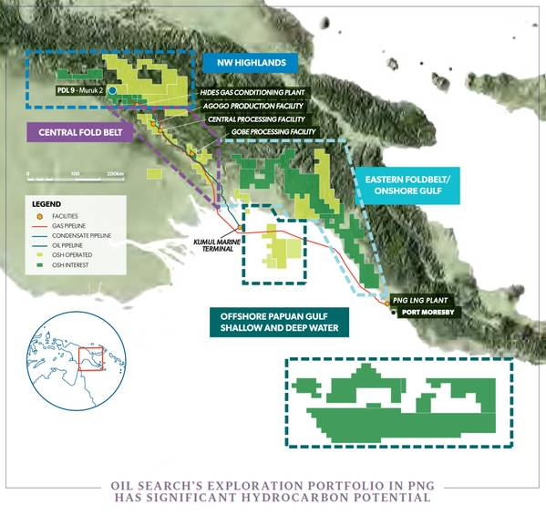 Oil Search's assets in PNG - Credit: Oil Search