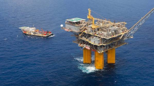 For illustration only - BHP's Shenzi platform in the Gulf of Mexico - Credit: BHP