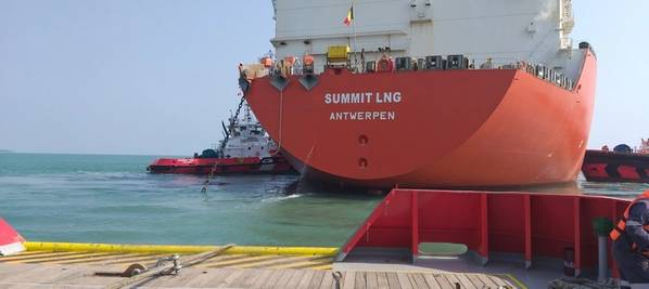 "Excelerate's FSRU ""Summit LNG"" Flowing Gas into Bangladesh. Image: Excelerate Energy"